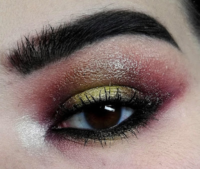 Challenge Glossy Halo Eyes Lime and Purple