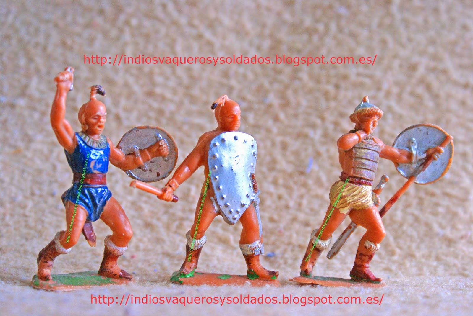 Figuras de plastico de los hunos de Jecsan