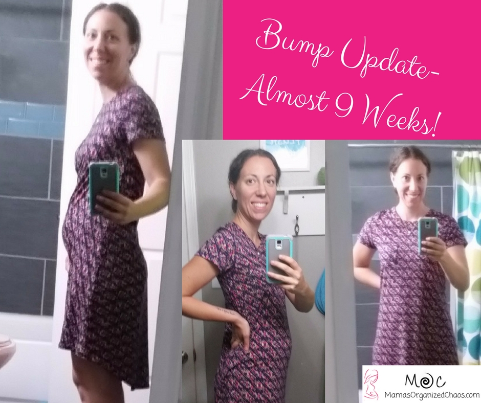 Baby V #2 Bump Update- Almost 9 Weeks - Mama's Organized Chaos