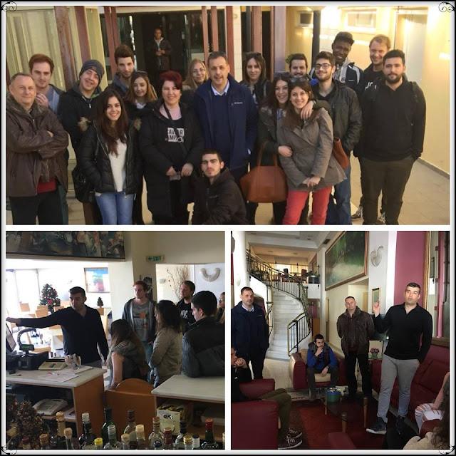 """Ηγουμενίτσα: Εκπαιδευτική επίσκεψη του τμήματος Διοίκησης Τουριστικών Επιχειρήσεων στο ξενοδοχείο """"Angelika Pallas"""""""