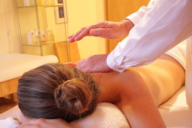 Massage im vollen Gange