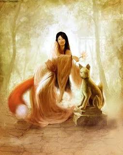 Huli Jing, the nine fox tails beautiful spirit