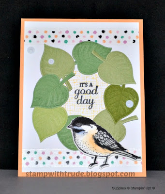 Tuesday Tutorial, Stampin' Up!, Best Birds, Stamp with Trude, greeting card