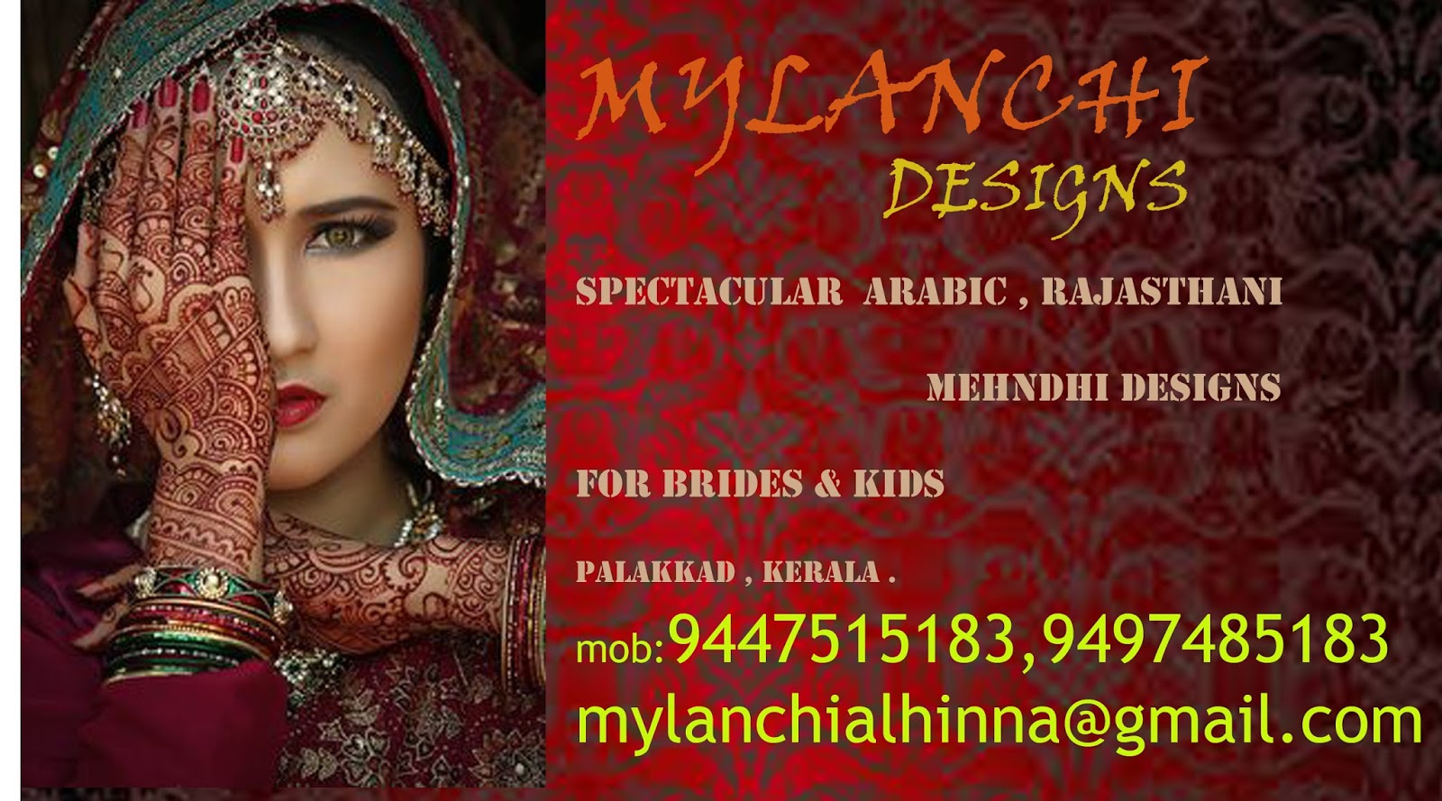Mehndhi Designs For Bride KidsArabic Amp Rajasthani At Palakkad
