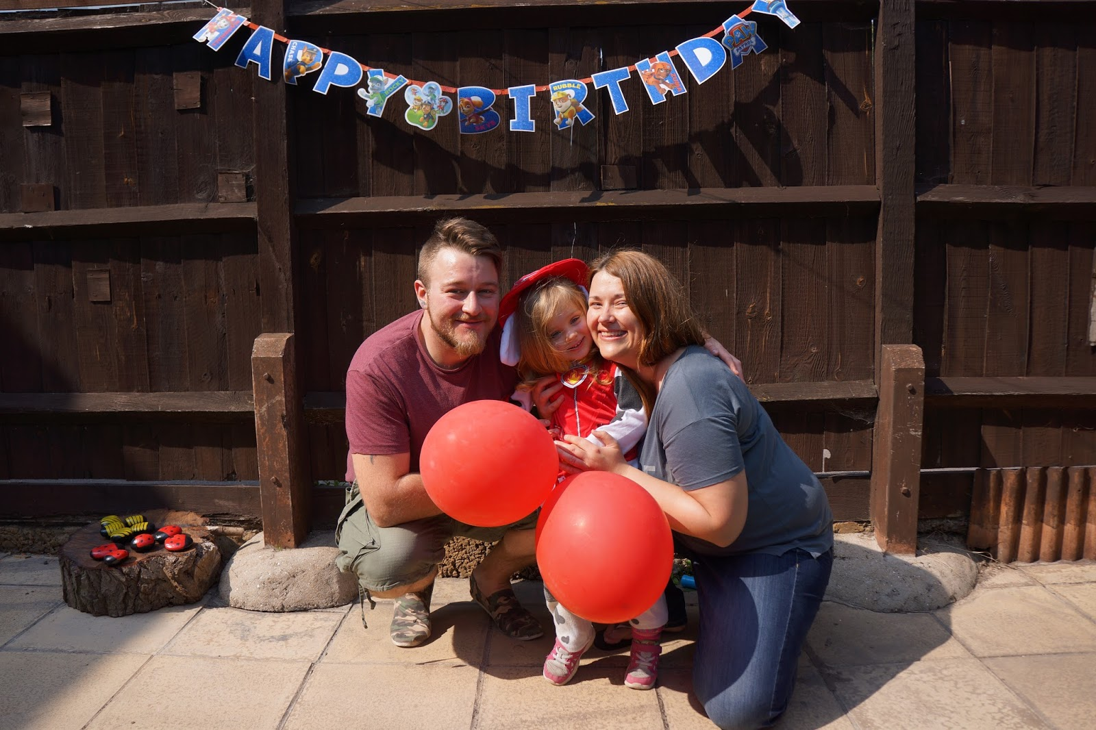 paw patrol birthday family picture