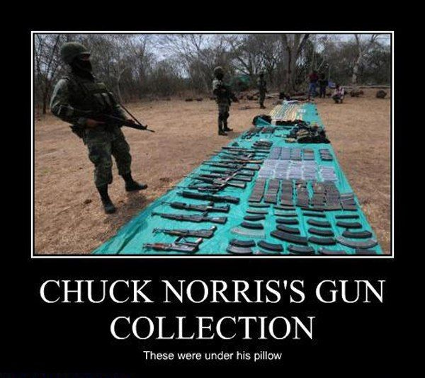 Chuck Norris's Gun Collection