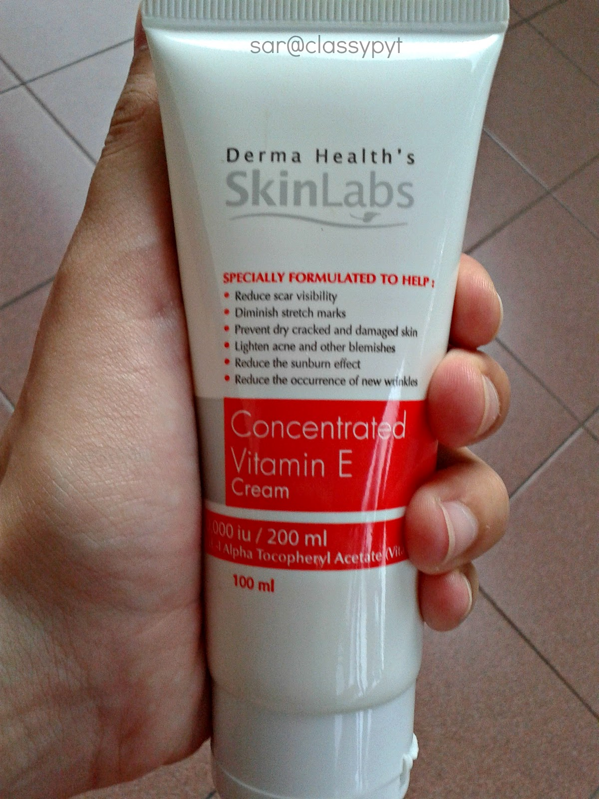 Classypyt Review Derma Health S Skinlabs Concentrated Vitamin E Cream