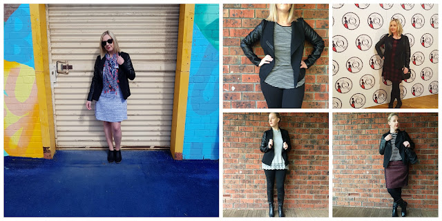 PU ponte jacket collage | Almost Posh