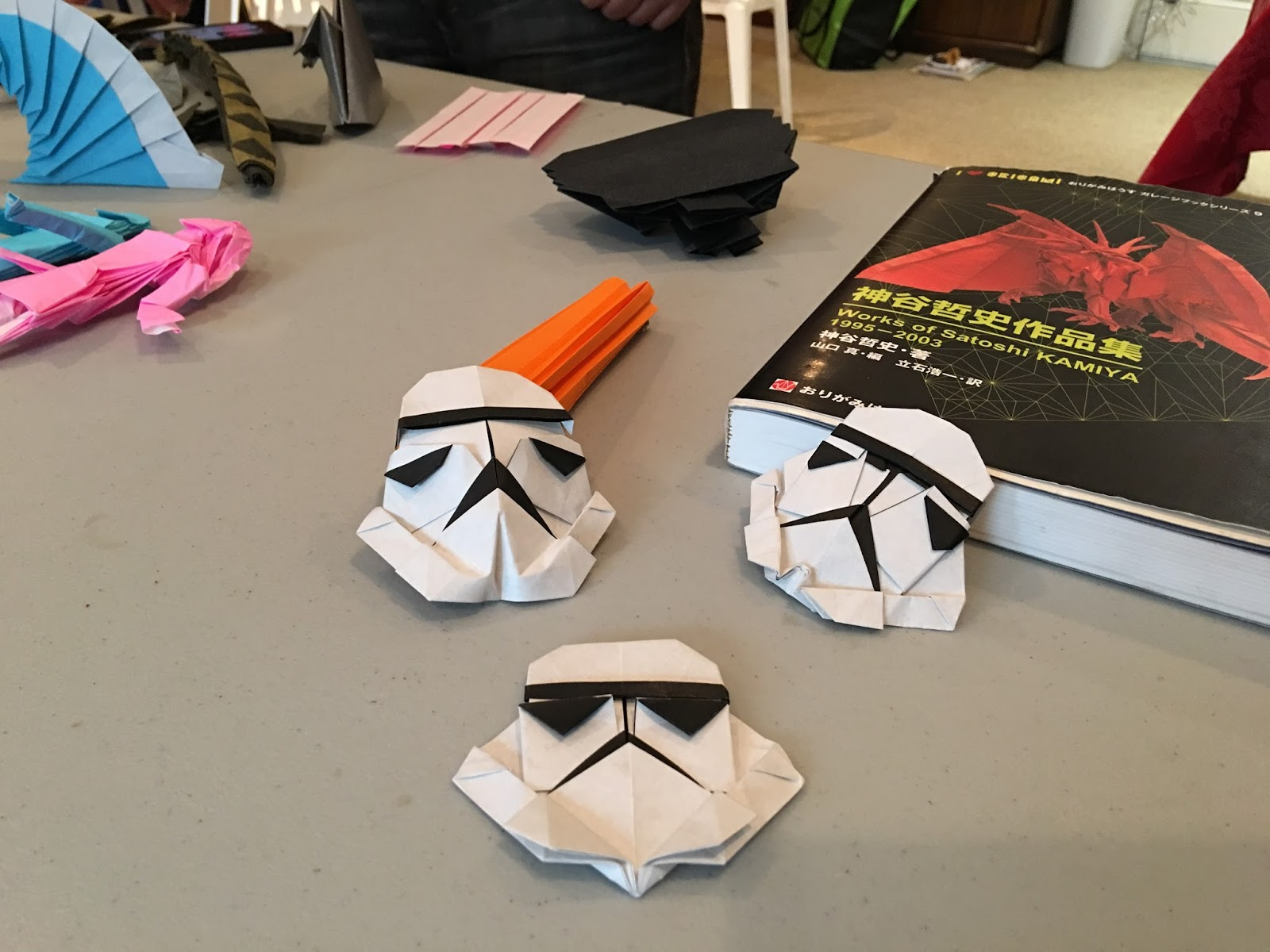 Have Paper Will Travel Storm Trooper Star Wars Origami Diagrams And Crease Patterns Starwarigami Folded These With Jared Alex At Martis Yesterday