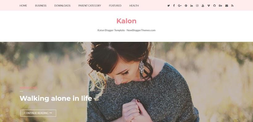 Kalon Free Blogger Template
