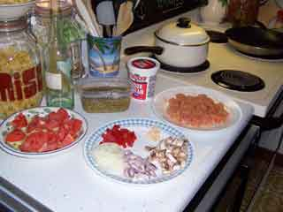 Chicken Goulash ingredients