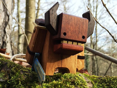 KOR Wooden Warrior Figure by Pepe Hiller