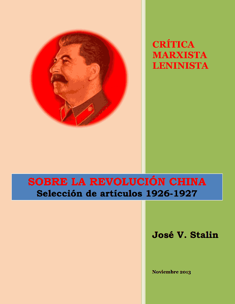 Stalin sobre la Revolución China