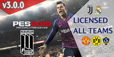 PES 2019 Mobile Android Minimum Patch 2019 ( PES 2019 v3.0.0 )