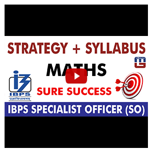 Strategy & Syllabus & Questions | Maths | IBPS Specialist Officer (SO) 2017
