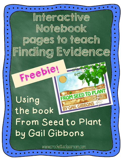 From Seed to Plant Free Interactive Notebook page, great way to teach finding evidence