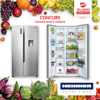 Castiga un frigider marca Heinner de la Selgros