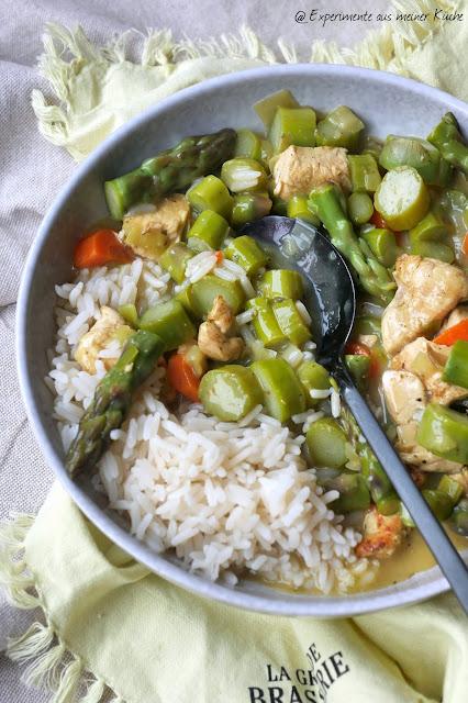Hähnchen-Spargel-Pfanne | Rezept | Essen | Kochen | Weight Watchers
