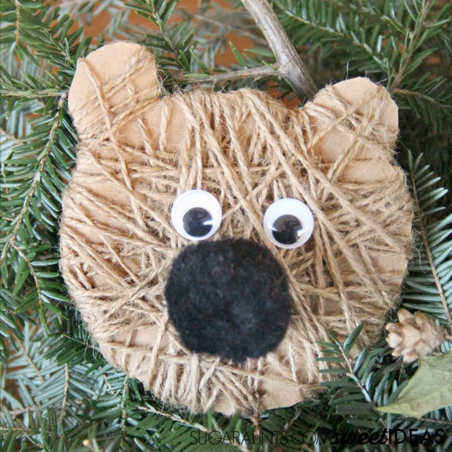Every Christmas tree needs this kid-made Christmas tree bear craft ornament!