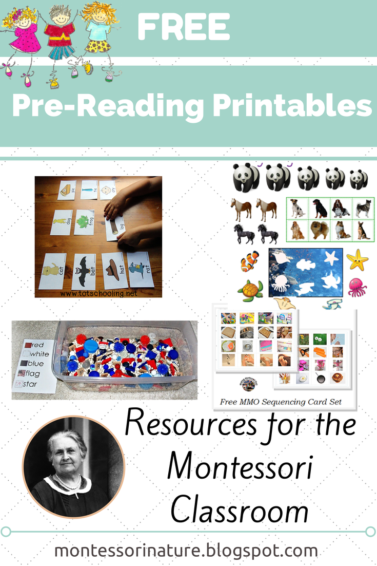 - Free Pre-Reading Printables. Montessori Nature