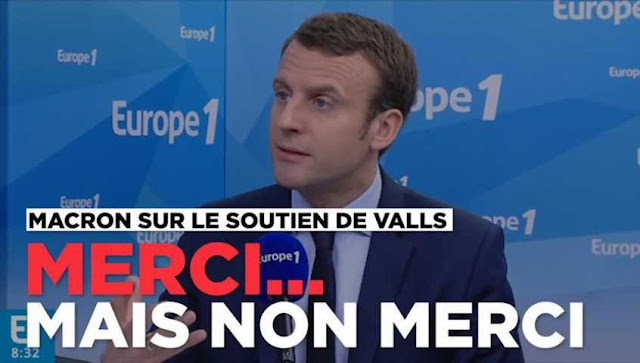Emmanuel Macron a appris en direct le soutien de l'ancien Premier ministre (PS) Manuel Valls.