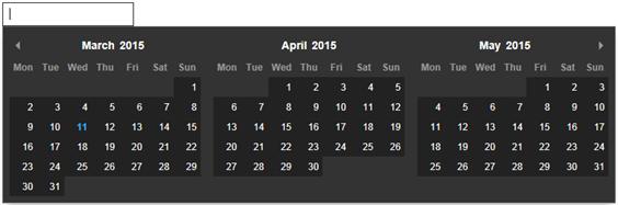 Sql server,  net and c# video tutorial: JavaScript calendar