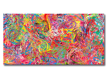 multi coloured, abstract, wall art, canvas art, contemporary, canvas print, swirls, squiggles, loud, colourful, modern, large, art,