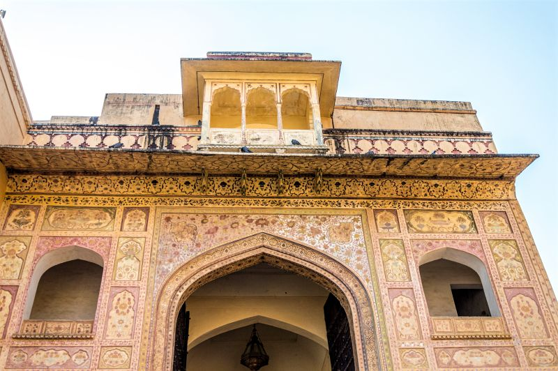Beautiful gate of the fort that leads to Diwan E Aam