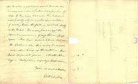 Second page and facing blank page of Marsh letter