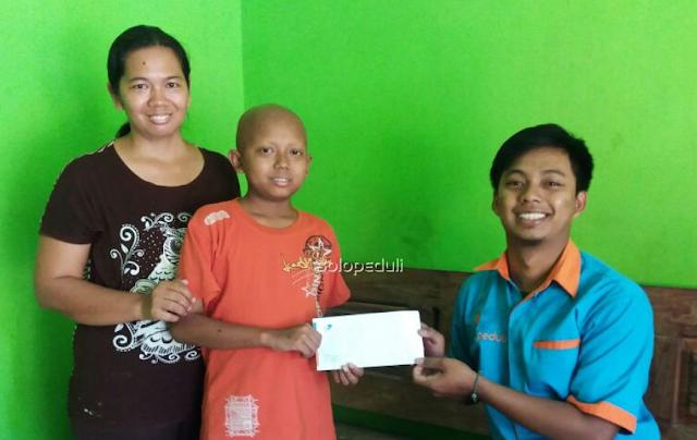 Santunan Kesehatan Solopeduli untuk Evendi, Bocah Penderita Kanker Kelenjar Getah Bening