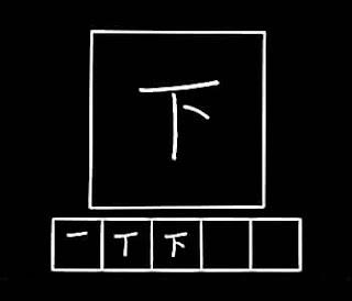 kanji shita bawah