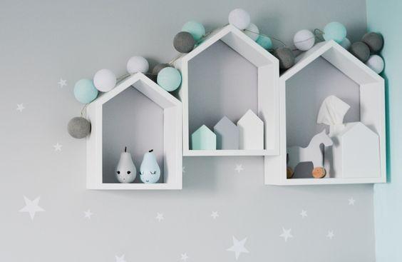 dekoracyjne półki domki