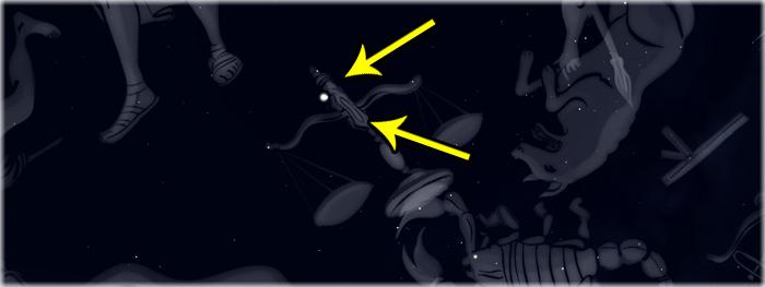 encontro de planetas no céu noturno - janeiro 2018 - Marte e Júpiter