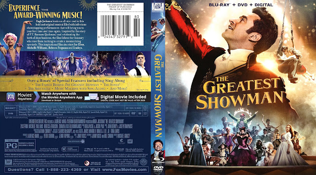 The Greatest Showman Bluray Cover