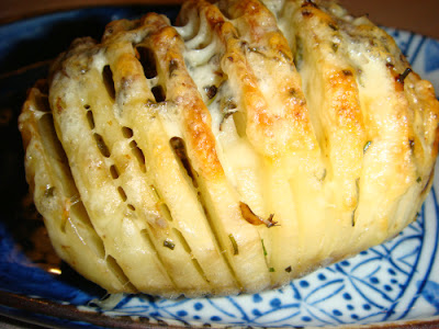 Sliced Baked Potatoes with Herbs and Cheese | Food is my friend