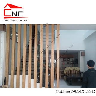 Thi công vách trang trí cầu thang đẹp CMT8 quận Tân Bình