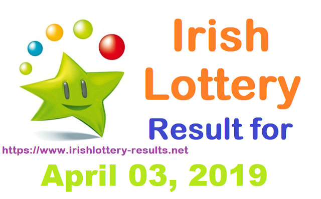 Irish Lottery Results for Wednesday, 03 April 2019