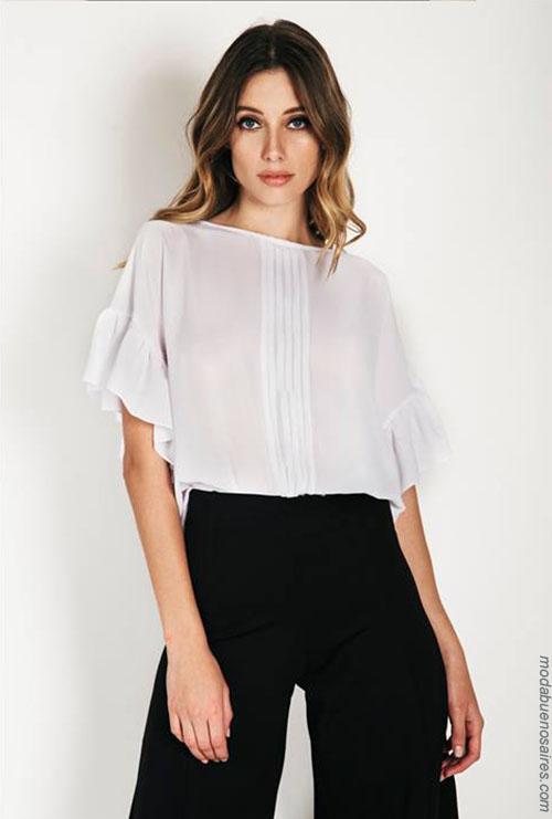 Blusas de moda 2018. Moda vestidos de fiesta 2018.