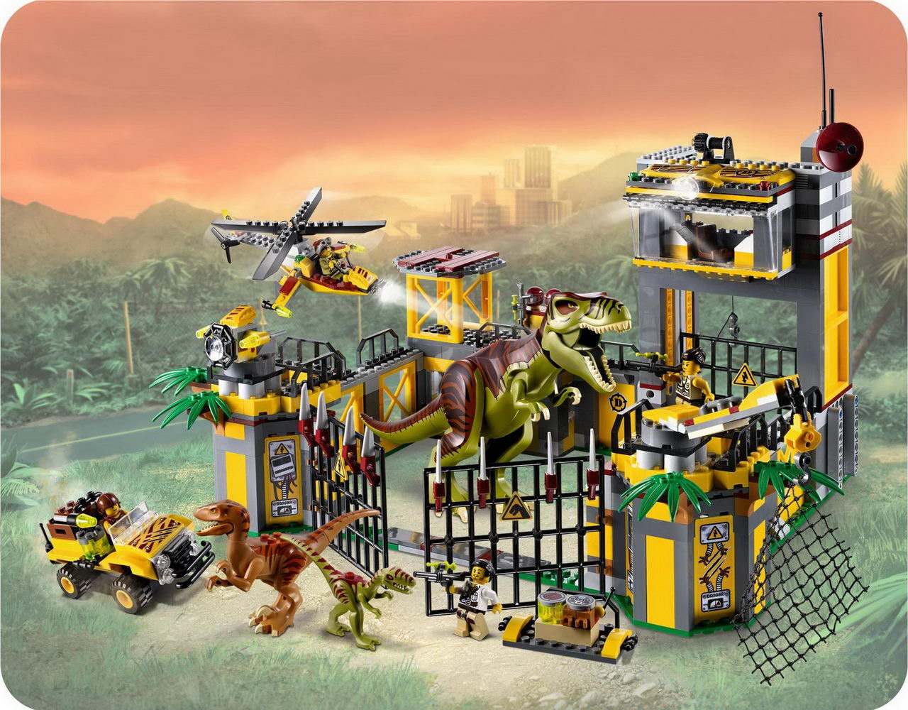 Onetwobrickcom Set Database Lego 5887 Dino Defense Hq