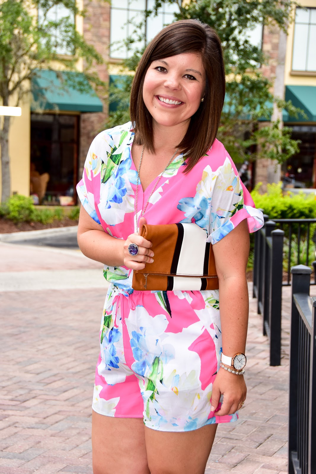 Date Night Style: Floral Romper