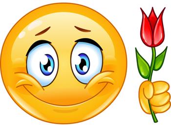 Emoji with rose