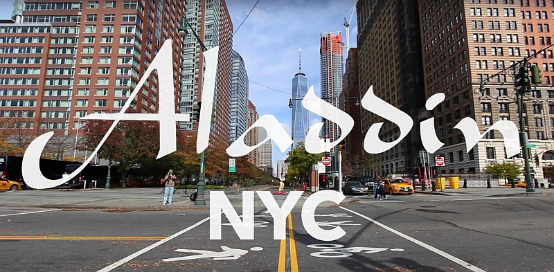 als aladdin auf einem 39 fliegenden teppich 39 durch new york. Black Bedroom Furniture Sets. Home Design Ideas