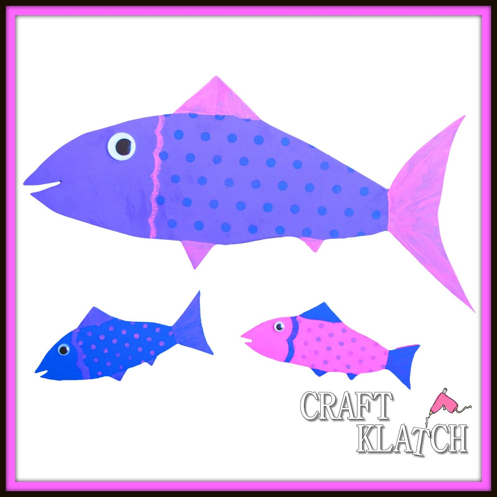 Craft Klatch ®: Easy DIY Wood Fish Wall Hangings ~ Craft Klatch