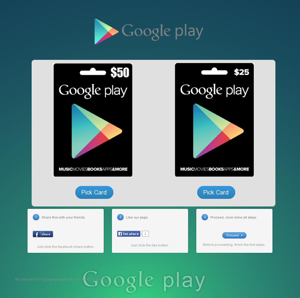 Google Code: Google Play Gift Card Code