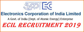 Central Government Jobs Recruitment - ECIL Recruitment 2019 - Apply for Technical Officer Posts