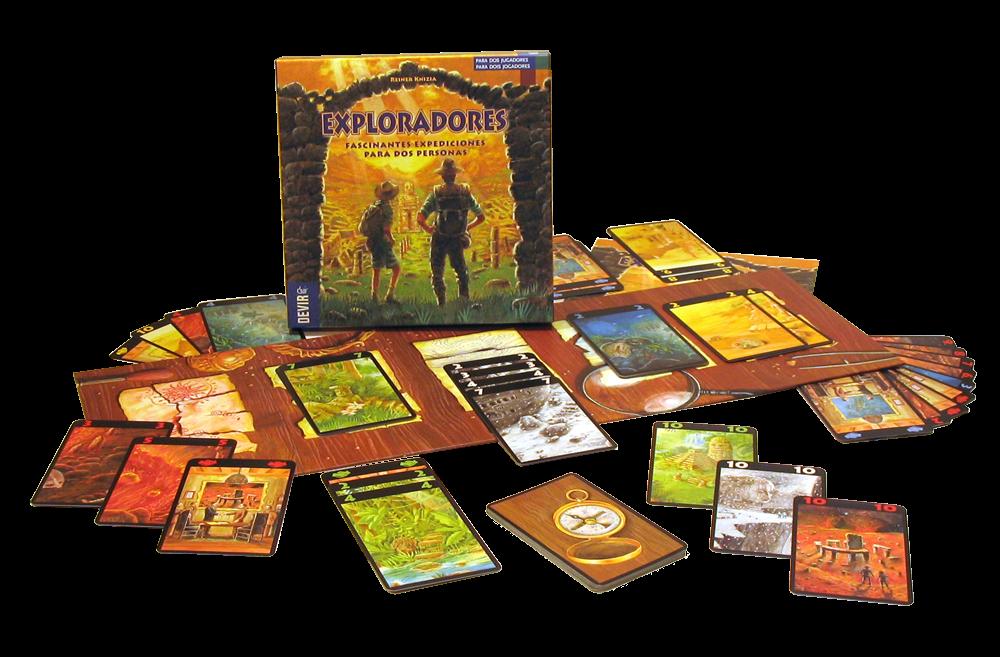 Reseña de Exploradores, juego de cartas para 2 jugadores de Reiner Knizia editado en español por Devir