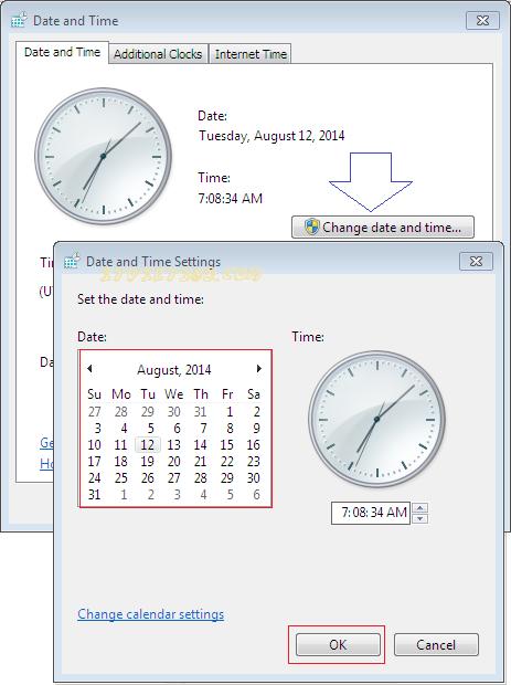 Error code: sec_error_expired_issuer_certificate. Lỗi chỉnh giờ hệ thống