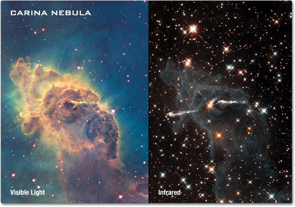 Infrared Visible Light Comparison View Of The Helix Nebula: Tori's Awesome Physics Blog: March 2011