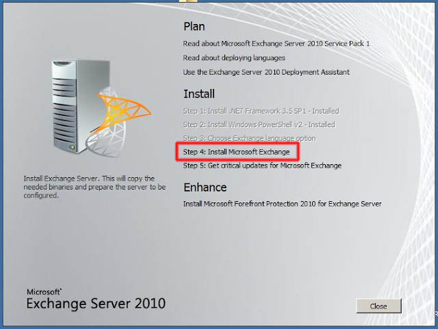 Step 4 Instalar Microsoft Exchange