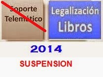 suspensión presentación telemática libros en registro